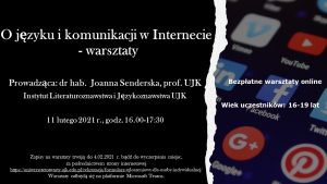 """Plakat """"O języku i komunikacji w Internecie"""""""